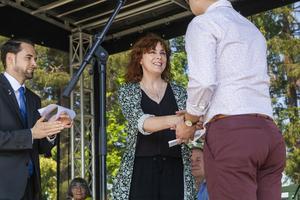 Konstnären Ulrika Bjöörn tog emot årets kulturstipendium.