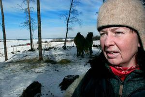Ann-Sofi Känngård Hedvall berättar att Sörbygården stängt ridverksamheten under några veckor efter att hästarna drabbats av ringorm.Foto: Robert Henriksson