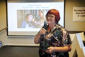 Arrangören Anna Frisk inledde med att informera om Eat up.