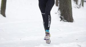 18 tappra löpare genomförde vintermaran i Strömsund.Foto: TT