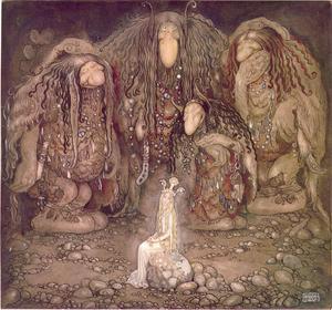 John Bauers illustrationer med olika sagoväsen har påverkat den svenska folkloren och sagoberättandet.