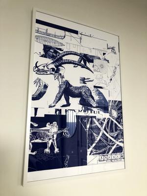 Affischen har Linas vän Gisela designat.
