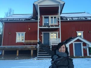 Boel Bermann såg sitt första norrsken under vistelsen i Sveg.