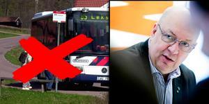 Region Dalarna har inte råd med gratis kollektivtrafik för unga i Dalarna under sommaren, menar regionråd Ulf Berg (M). Motage. Foto: Arkivbild/Johan Solum