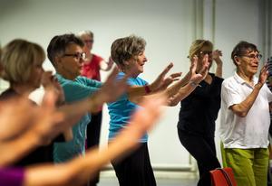 Ingrid Olander, 89 år tränar varje vecka.