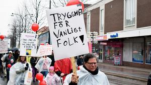 Trygghet var ett av budskapen i Borlänge.