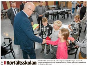 Länstidningens förstasida 18 oktober.