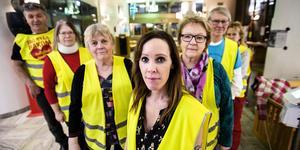 Ockupanterna i sjukhusfoajén i Sollefteå.