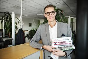 Oskar Nord, chefredaktör för Tidningen Ångermanland.