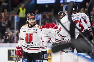 Ludvig Rensfeldt gjorde sitt sjätte mål för säsongen. Bild: Daniel Stiller/Bildbyrån