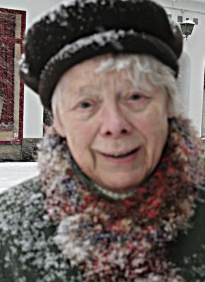 Maj Edoff, 84 år1. Vad ska man säga...det är både bra och dåligt. Det är jobbigt att ta sig fram. Det är halt under snön.