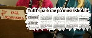 Om förslaget till nya budgetutrymmen även kan förändra situationen för musikskolan, som utbildningsnämnden tidigare pekat ut som möjlig verksamhet för en miljonbesparing, är en fråga som i nuläget inte har något svar.