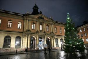Svenska Akademien i Börshuset vid Stortorget i Gamla stan. Arkivbild.Foto: Vilhelm Stokstad/TT