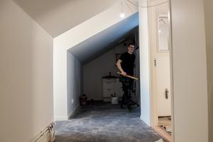 Lägenheterna har fått utformas efter de förutsättningar som vindsutrymmet haft.