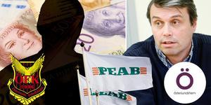 Bilden är ett montage. Det har varit turbulent i Östersunds kommun sedan det framkommit att Daniel Kindberg är misstänkt för grov ekonomisk brottslighet.