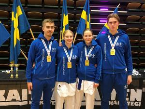 William Engman, Maja Hamrin, Lisa Rasmusson och David Engman. Bild: Privat