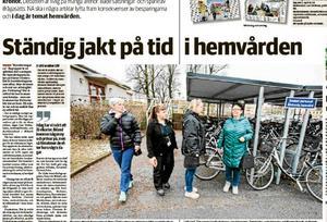 Nerikes Allehanda den 1 mars. personal i hemsjukvården i Örebro berättar om sin situation.