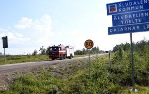 Jönköpings räddningstjänst lämnar Särna och Dalarna för Jämtland.