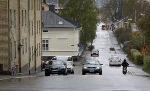 De boende på Trädgårdsgatan hade cruisingen på nära håll under lördag natt.