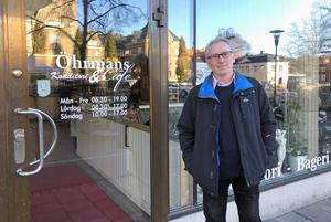 Det var på Örhmans Konditori som Willy Berg fick idén om att skriva en roman som just tar sin början på ett klassiskt café.