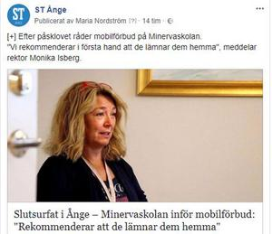 Inlägget på ST Ånges Facebooksida har kommenterats av många.