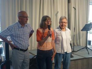 Rolf Krohn, Christina Westman och Gun Krohn. Foto: L Norlander.