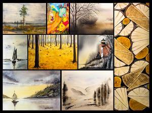 Inspirerade av Aud Rye släpper akvarellisterna loss.