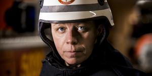 Annica Östberg är en av nästan 11 000 deltidsbrandmän i Sverige.