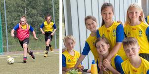 Fotbollskolan på Ösmo IP bjuder på fotboll och lek.