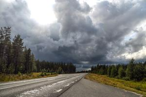 Johan Sjölund fick utstå mycket regn på resan.