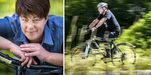 Sara Lindqvist och Bengt Moberg väljer helst cykeln före bil och buss.
