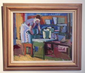 Carl Herman Wetterwik. Tvätt i köket. Foto: Malin Pahlm