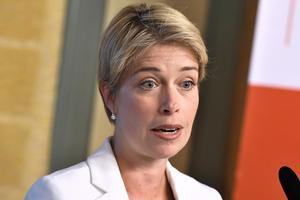 Socialminister Annika Strandhäll (S) leder Pensionsgruppen.  Foto Claudio Bresciani/TT