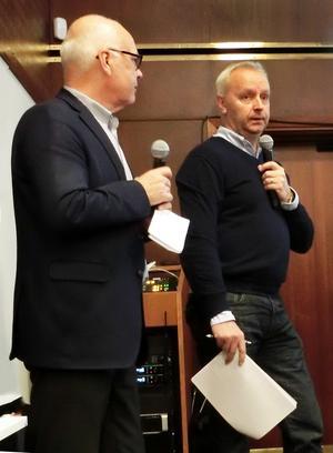 Leif Forslund till höger, vd för JH Turism, om att konjunkturläget för turismen stärks inför 2020.