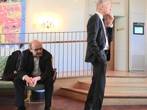 Åklagare Christer Sammens och målsägarbiträdet Karl-Gösta Myhrberg.
