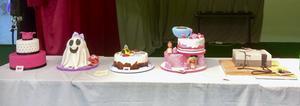 Sammanlagt var det tio tårtor som tävlade i Minas åldersgrupp.