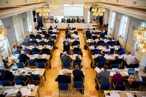 Ett femtiotal företagsledare fyllde sessionssalen på det unika näringslivsparlamentet.