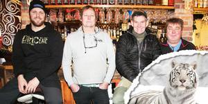 Nu satsas det på turismen i Junsele även under vintersäsongen. Med på den resan är Junseleentréprenörerna Jimmie Byström, Börje Norberg, Jocke Smålänning och Ulf Henriksson.
