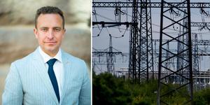 """""""Kärnkraft är klimatsmart, därför vill vi moderater dubbla EU:s kärnkraftsbudget och exportera mer klimatsmart el inom Europa"""" skriver Tomas Tobé (M). Foto: Pressbild Moderaterna/Adam Ihse/TT/Montage"""