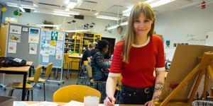 Målning och andra skapande verksamheter är ett stort fritidsintresse för Josefine Persson.