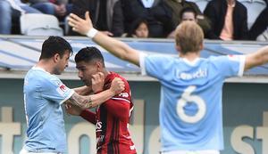 Mötet i maj 2017 innehöll både bråk och dramatiskt slut. En inte helt ovanlig syn när Östersunds FK och Malmö FF mött varandra.
