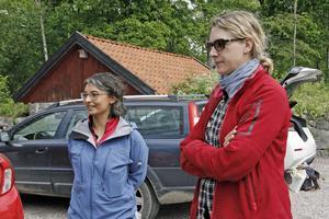 Julia Carlsson och Karin Sandberg från Länsstyrelsen jobbar med projektet kring ängs- och betesmarker.