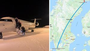 Bild: Privat/Google MapsI stället för i Göteborg hamnade passagerarna i Luleå – en differens på cirka 120 mil.