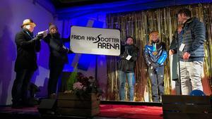 Under firandet avslöjades det att Norbergs nya idrottshall ska heta Frida Hansdotter Arena.