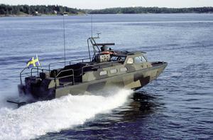 Du kan även åka stridsbåt 90 till ön, här kommer företagaret Roslagslänna Rederi in. Tillsammans kommer de olika företagen stå för transport, aktiviteter och upplevelser på ön. Foto: Privat