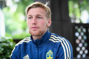 Sporten träffade Emil Forsberg dagarna innan avresan till Ryssland och karriärens första VM-slutspel. Bild: Maja Suslin/TT