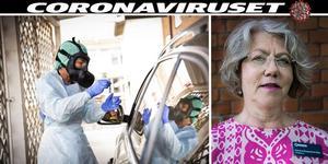 – Ett PCR-prov tas i näsan eller en bit ner i svalget, med en pinne som är gjord för att fånga virus och bakterier, säger Susanne Bergenbrant Glas, chefsläkare på Norrtälje Sjukhus.