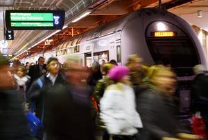 En rad inställda tåg har blivit konsekvensen av det intensiva snövädret runt om i landet under dcecember och januari.Foto: Henrik Montgomery /TT