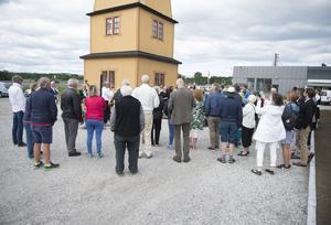 Invigningen av tornet hölls under fredagen vid lunchtid.