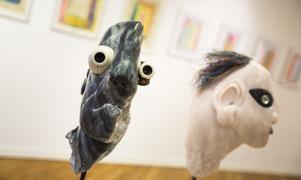 Människa och maskin möts i Alex Oberhoffs skulpturer.